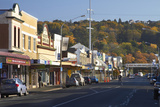 Shops on King Edward Street, Autumn, Dunedin, South Island, New Zealand Photographic Print by David Wall