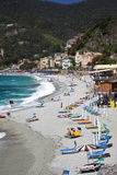 Vacationers Enjoying the Beach, Monterosso, Cinque Terre, Italy Photographic Print by Terry Eggers