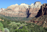 Zion-Mount Carmel Highway, Zion National Park, Utah, USA Photographic Print by Lynn Seldon