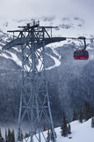 Skiing Gondola, Whistler to Blackcomb, British Columbia, Canada Photographic Print by Walter Bibikow