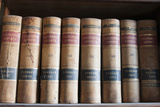 Old Law Books in Library Virginia City, Nevada, USA Photographic Print by Michael DeFreitas