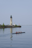 Buffalo Lighthouse, 1833, Us Coast Guard Base, Lake Erie, Buffalo, New York, USA Fotografie-Druck von Cindy Miller Hopkins