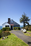 The Lookout Observatory and Gift Shop, Cape Foulweather, Oregon, USA Photographic Print by Jamie & Judy Wild