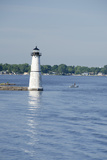 Lighthouse, St. Lawrence Seaway, Thousand Islands, New York, USA Photographic Print by Cindy Miller Hopkins