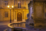 Fountain, Facade of Hotel De Ville, Aix-En-Provence, France Photographic Print by Brian Jannsen