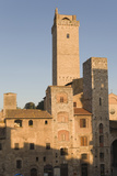 Early Morning Light on the Towers of the Town, San Gimignano, Tuscany, Italy Photographic Print by Roberto Gerometta
