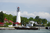 Fort Gratiot Lighthouse, Lake Huron, Lake Erie, St. Claire River, Michigan, USA Photographic Print by Cindy Miller Hopkins