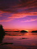 View of Beach at Sunset, Vancouver Island, British Columbia Photographic Print by Stuart Westmorland