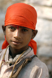 Young Indian Boy at Pushkar Camel Fair, Rajasthan, Pushkar, India Photographic Print by David Noyes