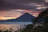 Toliman Volcano and Lago De Atitlan (Lake Atitlan), San Juan La Laguna, Guatemala Photographic Print by Michael DeFreitas