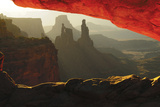 Sunrise, Mesa Arch, Canyonlands National Park, Utah, USA Photographic Print by Michel Hersen