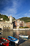 City and Church of Santa Margherita d'Antiochia of Vernazza, Italy Photographic Print by Terry Eggers