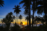 Sunset, Taveuni, Vanua Levu in Background, Fiji Photographic Print by Douglas Peebles