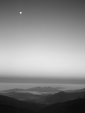 Cherohala Skyway, Full Moon over the Smoky Mountains Photographic Print by Rob Tilley
