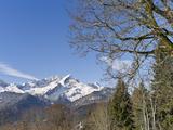 Wetterstein Mountains, Mt Alpspitze, Mt Zugspitze, Mt Hochblassen, Bavaria Photographic Print by Martin Zwick