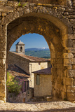 Stone Gate in Lacoste with Mount Ventoux Beyond, Provence, France Fotodruck von Brian Jannsen