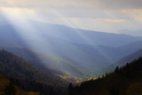 Sunbeams over Mountain Valley in the Smokies, Great Smoky Mountains National Park, Tennessee, USA Photographic Print by Joanne Wells