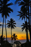 Sunset, Taveuni, Vanua Levu in Background, Fiji Photographic Print by Douglas Peebles