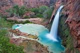 Havasu Waterfall on the Havasupai Reservation in Arizona, USA Stampa fotografica di Chuck Haney