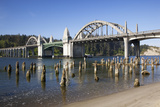 Siuslaw River Bridge, Built in 1936, on Highway 101, Florence, Oregon, USA Photographic Print by Jamie & Judy Wild