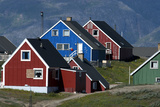 The Colorful Cottages of the Town Narsaq, Greenland Photographic Print by David Noyes