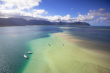 Sand Bar, Kaneohe Bay, Oahu, Hawaii, USA Photographic Print by Douglas Peebles