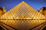 Glass Pyramid at the Entrance to Musee Du Louvre, Paris, France Photographic Print by Brian Jannsen