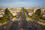 View over Paris from the Top of Arc De Triomphe, Paris, France Photographic Print by Brian Jannsen