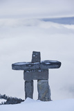 Gondola, Whistler to Blackcomb, Inuksuk First Nation Marker, British Columbia, Canada Photographic Print by Walter Bibikow