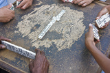 Playing Domino, Trinidad, Cuba Photographic Print by Keren Su