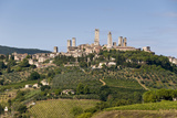 Towers from the Surrounding Countryside, San Gimignano, Tuscany, Italy Photographic Print by Roberto Gerometta
