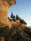 Sea Caves at Hack's Beach, Bay of Fundy, St. Martins, New Brunswick, Canada Photographic Print by Walter Bibikow