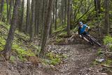 Mountain Biking the Whitefish Trail Near Whitefish, Montana, USA Photographic Print by Chuck Haney