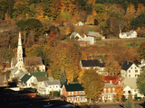 View of Town, South Royalties, Vermont, USA Photographic Print by Walter Bibikow