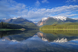 Mission Reservoir, Peaks of the Mission Mountains Near St Ignatius, Montana, USA Photographic Print by Chuck Haney