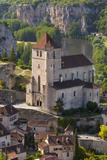 Eglise Church, Medieval, Saint-Cirq-Lapopie, Lot Valley, Midi-Pyrenees, France Photographic Print by Brian Jannsen