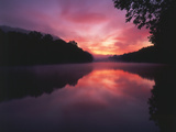 Steaming Kentucky River at Sunrise, Kentucky, USA Photographic Print by Adam Jones