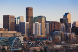City View from the West, Denver, Colorado, USA Photographic Print by Walter Bibikow