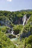 Waterfalls, the Big Fall (Veliki Slap), Plitvice Lakes, Plitvicka Jezera, Croatia Photographic Print by Martin Zwick