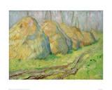 Haystacks Giclee Print by Franz Marc