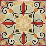 Bohemian Rooster Tile Square II Affiche par Daphne Brissonnet