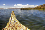 Bolivia, Lake Titicaca, Reed Boat of Uros Floating Reed Islands of Lake Titicaca Photographic Print by Kymri Wilt