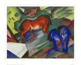 Red and Blue Horses Giclee Print by Franz Marc