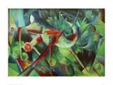 Franz Marc - Deer in the Flower Garden - Giclee Baskı