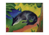 Black and Blue Fox Giclee Print by Franz Marc
