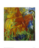 Picture with Bulls Giclee Print by Franz Marc