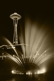 Space Needle Tower with Fountain, Seattle, Washington, USA Photographic Print by Paul Souders