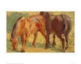 Small Painting of Horses Impression giclée par Franz Marc
