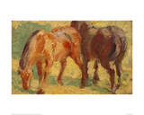 Small Painting of Horses Giclée-tryk af Franz Marc