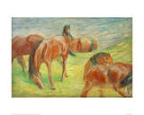 Grazing Horses I Giclee Print by Franz Marc